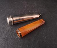 Antique cigar smokers set, silver, Amber and gold (5 of 11)