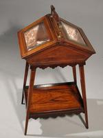 A Extremely Pretty 19th Century Rosewood and Marquetry Ladies Work Table (2 of 6)