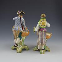 Fine Pair Minton Porcelain Sweetmeat Figures with Baskets Models 84 & 85 c.1830 (6 of 23)