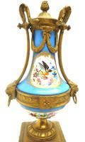 Wonderful Pair of Clock Garnitures Side Urns This Sevres Clock Garnitures (7 of 10)