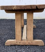 Large French Rustic Bleached Oak Farmhouse Dining Table (17 of 36)