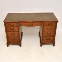 Burr Walnut Pedestal Desk c.1930 (2 of 10)