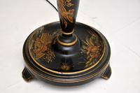 Antique Lacquered Chinoiserie Lamp Stand & Shade (2 of 12)