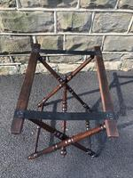 Antique Oak Butlers Tray Stand (2 of 5)