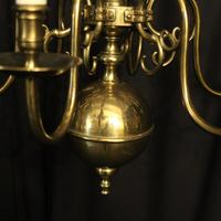 English Pair of 6 Light Antique Chandeliers (5 of 10)