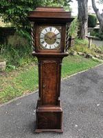 Small Georgian Oak Weight Drive Granddaughter Clock