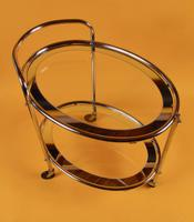 Original 1930s Art Deco Chrome & Mirror Modernist Cocktail Trolley (3 of 7)