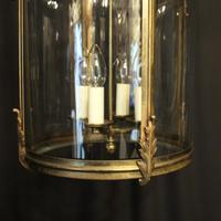 French Large Brass Four Light Antique Lantern (7 of 10)
