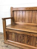 Rustic Pitch Pine Settle Bench (5 of 9)