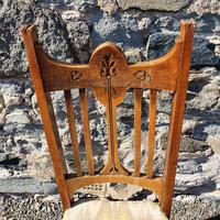 Glasgow School Oak Single Hall Chair (3 of 5)