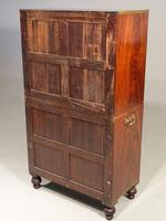 Very Rare Regency Period Mahogany Two Part Campaign Cabinet (6 of 6)