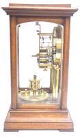 Rare Gustav Becker 400-day Torsion Clock German Mantel Clock Mahogany & Bevelled Glass Case (8 of 13)
