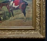 19thC English School - Horse & Hound Country landscape Oil Painting (3 of 11)
