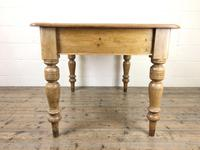 Antique Pine Kitchen Table (5 of 7)