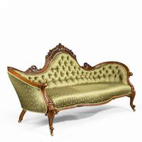Elaborate Victorian Shaped Walnut Sofa (12 of 12)