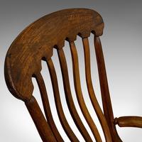 Antique Farmhouse Rocking Chair, English, Elm, Beech, Seat, Victorian c.1900 (12 of 12)