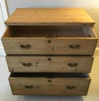 Stripped Pine Chest of 3 Drawers (6 of 8)