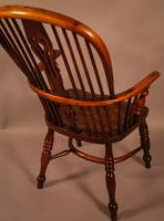Yew Wood High Back Windsor Chair Rockley Made (3 of 9)
