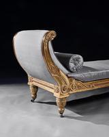 Rare Regency Giltwood & Silk Upholstered Daybed after Morel & Hughes (9 of 13)