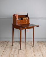 George III mahogany ladies writing desk or 'cheveret' (2 of 9)