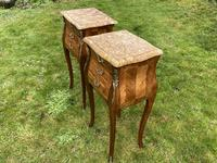Pair of marquetry bedside tables (5 of 5)