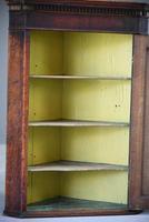 Antique Rustic Oak Hanging Corner Cupboard (5 of 12)