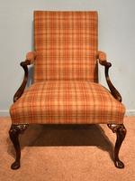 George I Style Walnut Gainsborough Armchair (3 of 8)