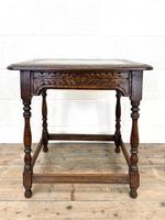 Early 20th Century Antique Oak Carved Side Table (7 of 10)