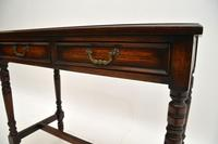 Antique Leather Top Oak Writing Table / Desk (5 of 10)
