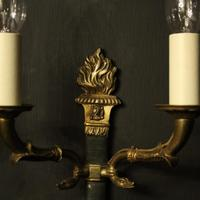French Pair of Empire Gilded Wall Lights (5 of 10)
