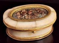 Antique French Jewellery Casket, Alabaster, Ormolu, Dried Flowers (13 of 13)