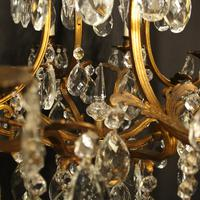 French Gilded Bronze & Crystal Chandelier (5 of 10)