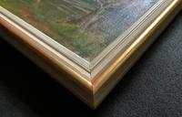 Superb Early 1900s Spring Blossom Riverscape Impressionist Oil Painting (12 of 13)
