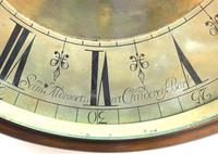 English Dial Wall Clock Rare Station Public Fusee Dial Wall Clock by Sam Aldworth at Childrey Berkshire (6 of 12)