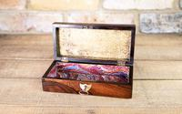 Rosewood & Mother of Pearl Desk Box 1830 (7 of 7)