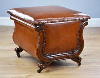 Victorian Hand Dyed Leather Ottoman