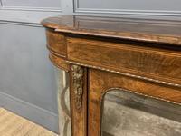 Victorian Burr Walnut Glazed Side Cabinet (6 of 15)