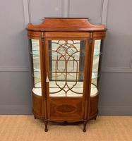 Inlaid Mahogany Display Cabinet by Jas Shoolbred (14 of 14)