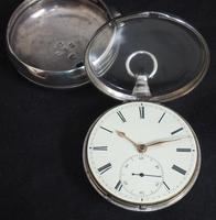 Antique Silver Pair Case Pocket Watch Fusee Escapement Key Wind Enamel Dial John Bernard London Liverpool (7 of 12)