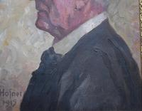 Attributed to Otto Hofner Oil Painting 1915 (5 of 8)