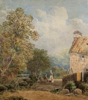 William Charles Goddard (exh.1885) Stunning Country Watermill Landscape Painting (11 of 15)