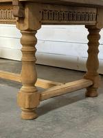 Superb Quality Large Bleached Oak Farmhouse Dining Table (22 of 32)