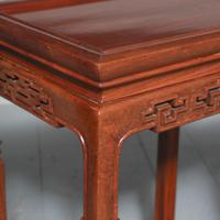 Antique Nest of 4 Padouk Chinese Occasional Tables (8 of 9)