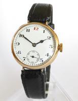 Gents Antique 9ct Gold Wrist Watch, 1919