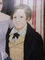Large Oil on Canvas Portrait of Brother & Sister 1860 (9 of 13)