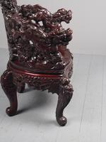 Antique Chinese Carved Hardwood Armchair (12 of 16)
