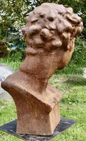 Weathered Cast Iron Statue of Michelangelo's David (5 of 8)