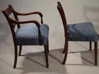 Exceptional Set of 8 Late George III Period Mahogany Framed Chairs (2 of 5)