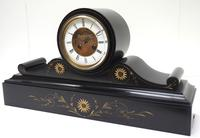 Amazing French Slate Mantel Clock Visible Escapement 8 Day Striking Mantle Clock (8 of 14)