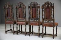 4 Carved Oak Dining Chairs (5 of 13)